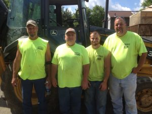 Pictured left to right: Jim Louis, staff since 2008; Greg Szypulski, staff since 2005; Nathan Sergent, staff since 2015; Ed Dorsey, Public Works Foreman since 2004
